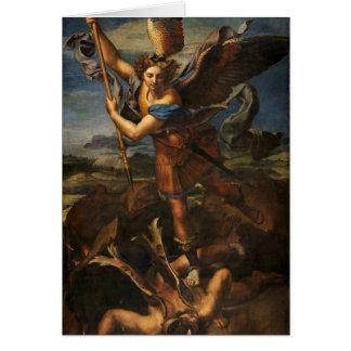 Tarjeta San Miguel que vence Satan