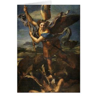 Tarjeta San Miguel y el Satan - Raphael