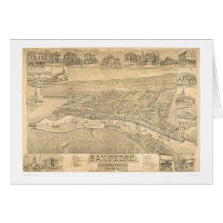 Tarjeta San Pedro, mapa panorámico 1895 (1319A) del CA