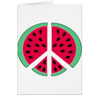 Tarjeta Sandía de la paz