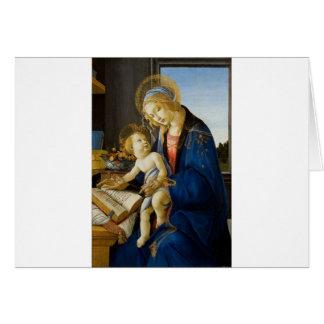 Tarjeta Sandro Botticelli - la Virgen y el niño