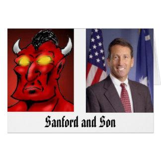 Tarjeta Sanford e hijo