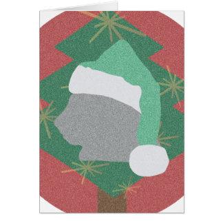 Tarjeta Santa Cat Postcard