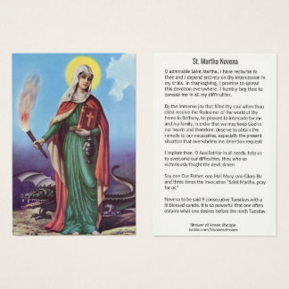 TARJETA SANTA DE NUEVE SEMANAS de Martha del santo