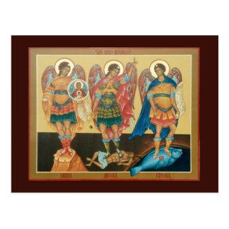 Tarjeta santa del rezo de los arcángeles