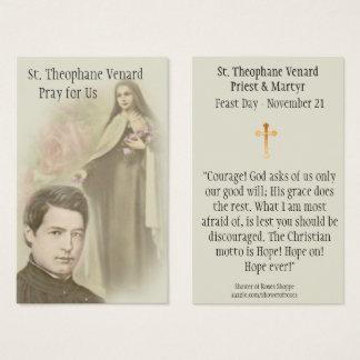 Tarjeta santa del sacerdote y del mártir del St.