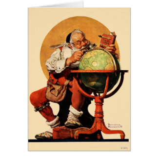Tarjeta Santa en el globo
