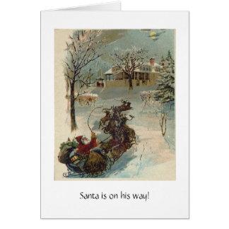 Tarjeta Santa está en su manera
