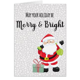 Tarjeta Santa feliz y brillante