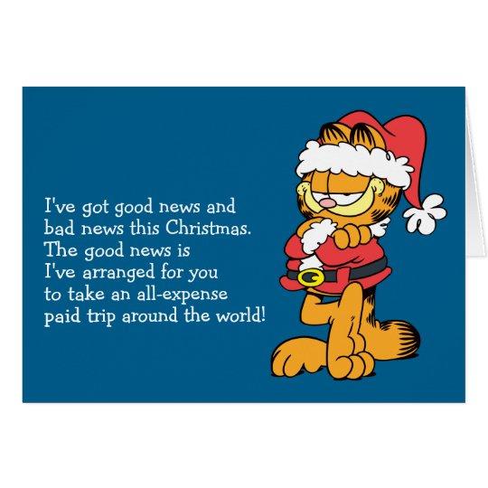 Tarjeta Santa Garfield