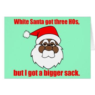 Tarjeta Santa negro tiene un saco más grande