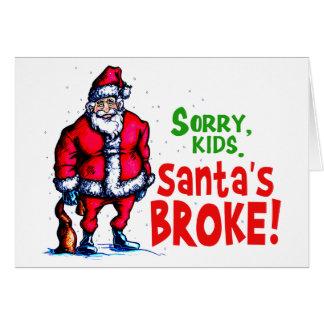 Tarjeta Santa se rompió