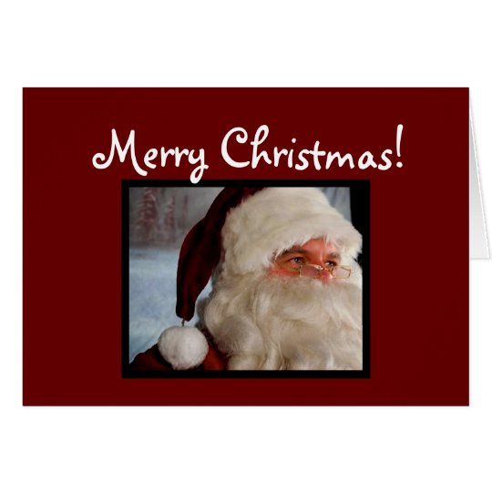 Tarjeta Santa [tarjeta de Navidad]