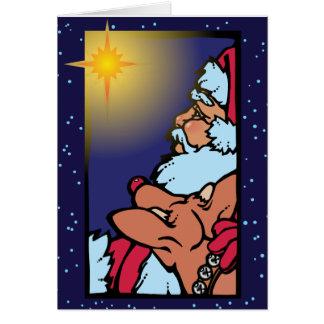 Tarjeta Santa y la estrella