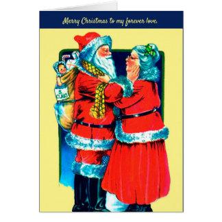 Tarjeta Santa y señora Claus Card para su amor especial