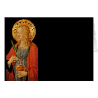 Tarjeta Santo Lucy Lucía c1470