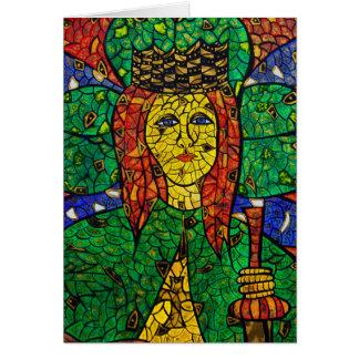 Tarjeta Santo patrón de St Dymphna de la depresión y de la