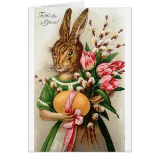 Tarjeta Sauces vestidos magníficos del conejito de señora