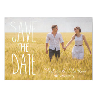 Tarjeta Save the date rustic invitation vintage country