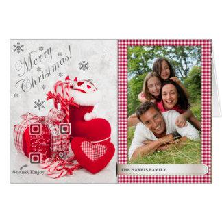 Tarjeta Scannable de la foto del zapato de Santa