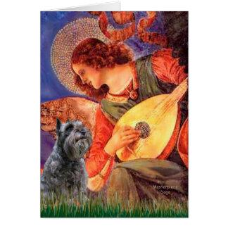 Tarjeta Schnauzer 12 - Ángel de la mandolina