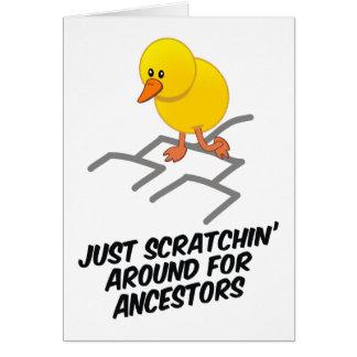 Tarjeta Scratchin alrededor