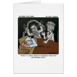 Tarjeta Scrooge sordo