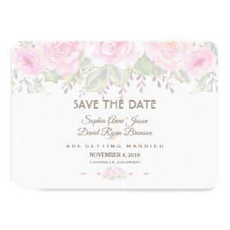 Tarjeta Se ruboriza la reserva floral del boda de la