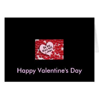 Tarjeta Sea mi amante candente, el día de San Valentín