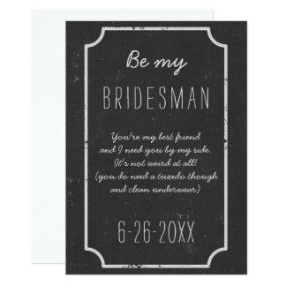 Tarjeta Sea mi pizarra de la petición del padrino de boda