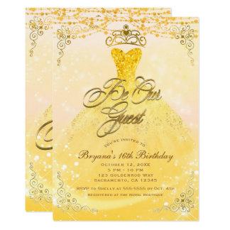 Tarjeta Sea nuestra princesa Yellow de la huésped y fiesta