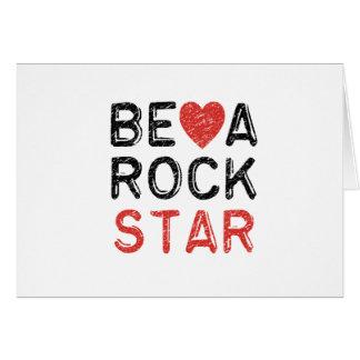 Tarjeta Sea una estrella del rock