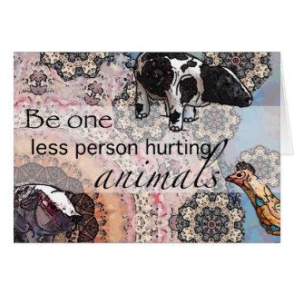 Tarjeta Sea uno menos persona que daña animales