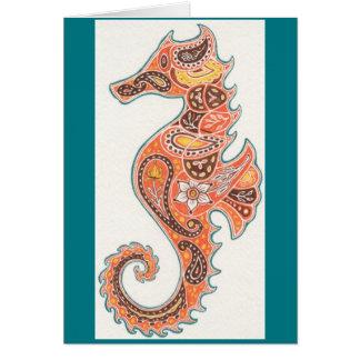 Tarjeta Seahorse de Paisley