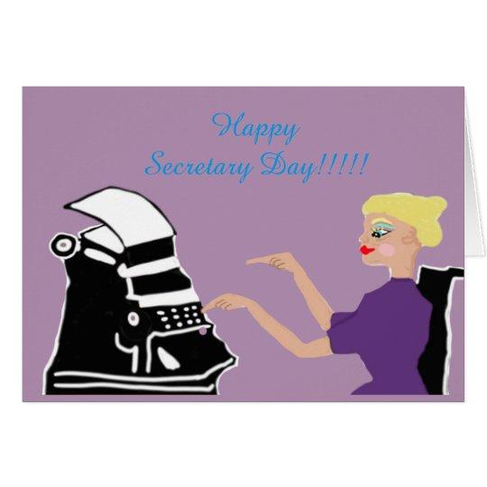 Tarjeta Secretaria feliz Day