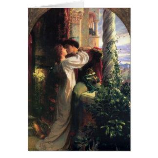 Tarjeta Secreto de Romeo y de Juliet del amor