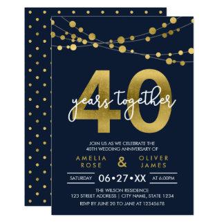 Tarjeta Secuencias azules del aniversario de boda de las