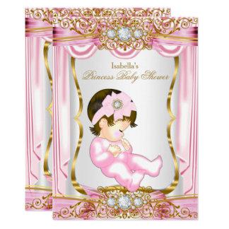 Tarjeta Seda triguena bonita del rosa de la princesa