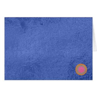 Tarjeta Sello del oro Art101 - espacios en blanco azules