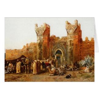 Tarjeta Señor Weeks- Gate de Edwin de Shehal, Marruecos