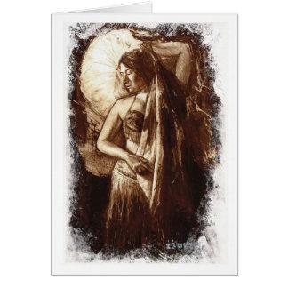 Tarjeta Señora Card de la danza del vientre