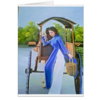 Tarjeta Señora en azul