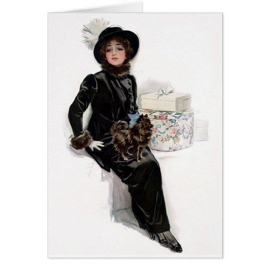 Tarjeta Señora en negro