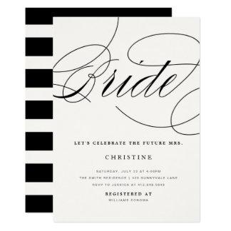 Tarjeta Señora futura Bridal Shower Invitation de la novia