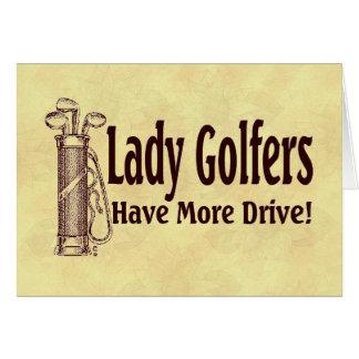 Tarjeta Señora Golfers