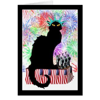 Tarjeta Señora Liberty - Patriotic Le Chat Noir