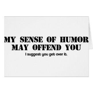 Tarjeta Sentido del humor