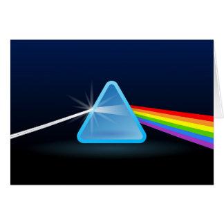 Tarjeta Separación ligera del arco iris con el triángulo