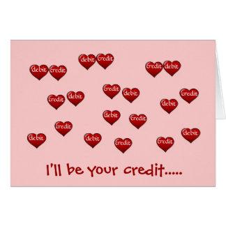 Tarjeta Seré su crédito…  - añada un subtítulo