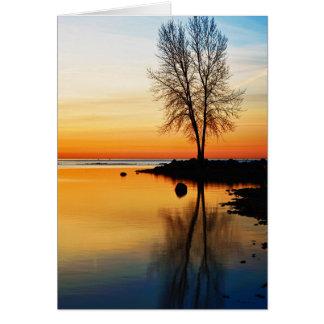 Tarjeta Serenidad de la salida del sol